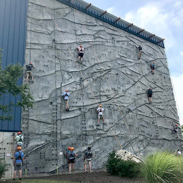 Via Ferrata climbing wall
