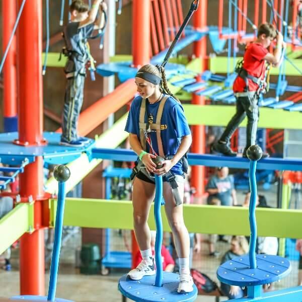 group ziplining course